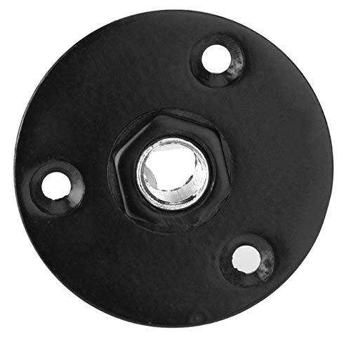 1 Piece Round Jack Plate Guitar Output Jack Plug Socket Circular Metal Jack Plate for Electric Bass Guitar Parts Accessories - Black
