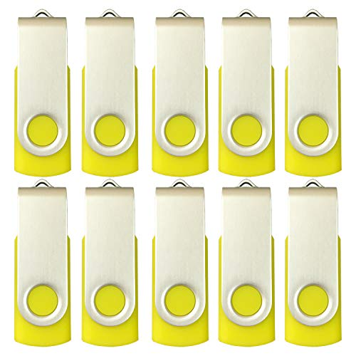 10 X Enfain 16GB Bulk USB Flash Drive Jump Thumb Zip Memory Stick 2.0 Yellow, Affordable Solutions for Promotional, Corporate Gifts, Catalogs, Software, Direct Mail -