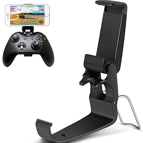 Jovitec Foldable Controller Clip Mobile Phone Plastic Holder Smartphone Game Clamp for Xbox One Controller (1 Pack)