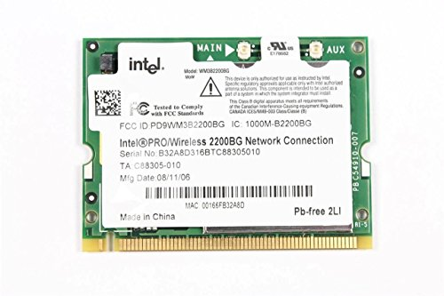 Compaq Evo N800v Part - Intel PRO/Wireless 2200 2200BG Mini-PCI WIFI Card WM3B2200BG 802.11B/G 54 Mbps Intel® Centrino® Processor Technology