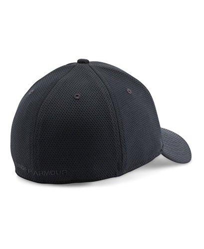 Under Armour Men's Blitzing II Stretch Fit Cap, Black/Black, Medium/Large