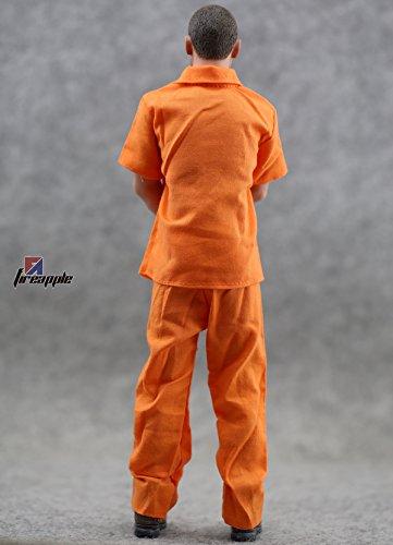 """Figure Accessories Orange Jumpsuits1/6 Figure Pants & Jacket Figure Clothes 1:6 Prison Garb Figure Clothing Fit For 12"""" Action Figure"""