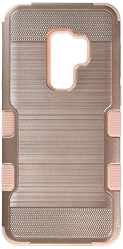 MyBat Samsung-Galaxy S9 Plus Rose Gold Brushed/Rose Gold TUFF Hybrid Phone Protector Cover [Military-Grade Certified] from MYBAT