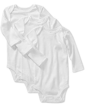 Child of Mine By Carter's Long Sleeve Bodysuits - 3 Pack