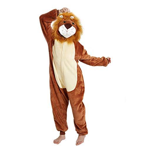 Jupiter Halloween Costume (ANBOTA Kids Lion Onesie Halloween Costume Cosplay for Boys Girls Fleece One Piece Pajama Zipper Closure,)