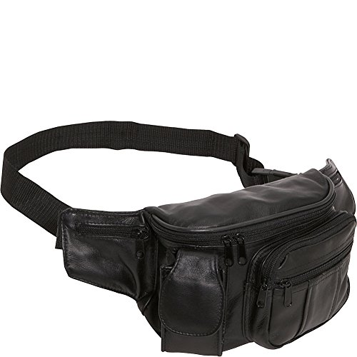 amerileather-leather-cell-phone-fanny-pack-black
