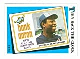 Hank Aaron baseball card 1989 Topps #663 (Atlanta Braves) Turn Back The Clock
