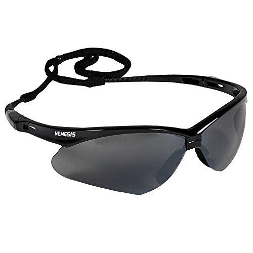 Jackson Safety V30 Nemesis Safety Glasses (25688), Smoke Mirror with Black Frame, 12 - Design Frame Outer