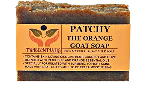 - Turmeric Soap With Patchouli Oil Goat Milk and Orange Essential Oil 100% Natural and Handmade Comes in Gift Box Contains Coconut Olive Hemp Oil (1 Pack)