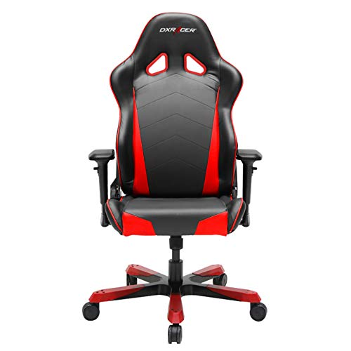 DXRacer Tank Series DOH/TS29/NR Big and Tall Chair Racing Bucket Seat Office Chair Gaming Chair Ergonomic Computer Chair Esports Desk Chair Executive Chair Furniture with Pillows (Black/Red)