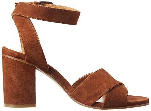 Camurca Atelier Cognac Sandals Women's Strap Ankle Voisin 12429 Brown Sonya 6q7Bvz6