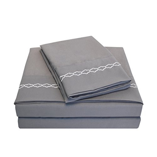 super-soft-light-weight-100-brushed-microfiber-twin-wrinkle-resistant-4-piece-sheet-set-grey-with-wh