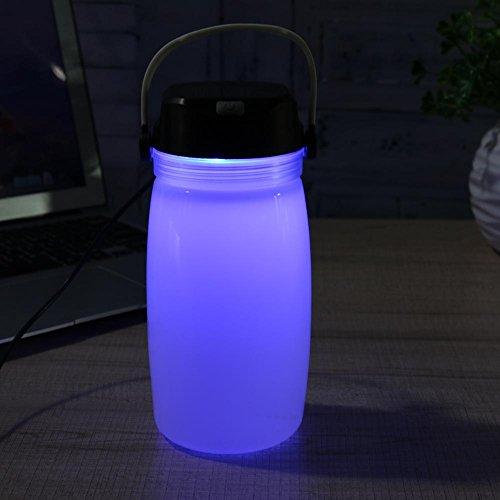 énergie solaire Lanterne rechargeable lampe de camping extérieur en silicone l'eau lampe en verre