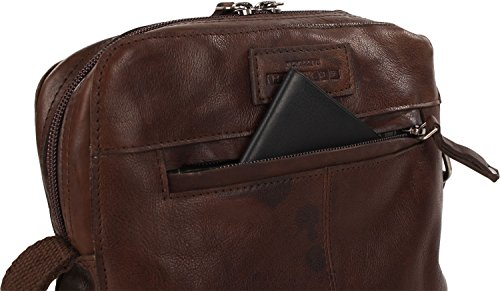 Harolds Dean Borsa a tracolla pelle 22 cm compartimente Laptop marrone