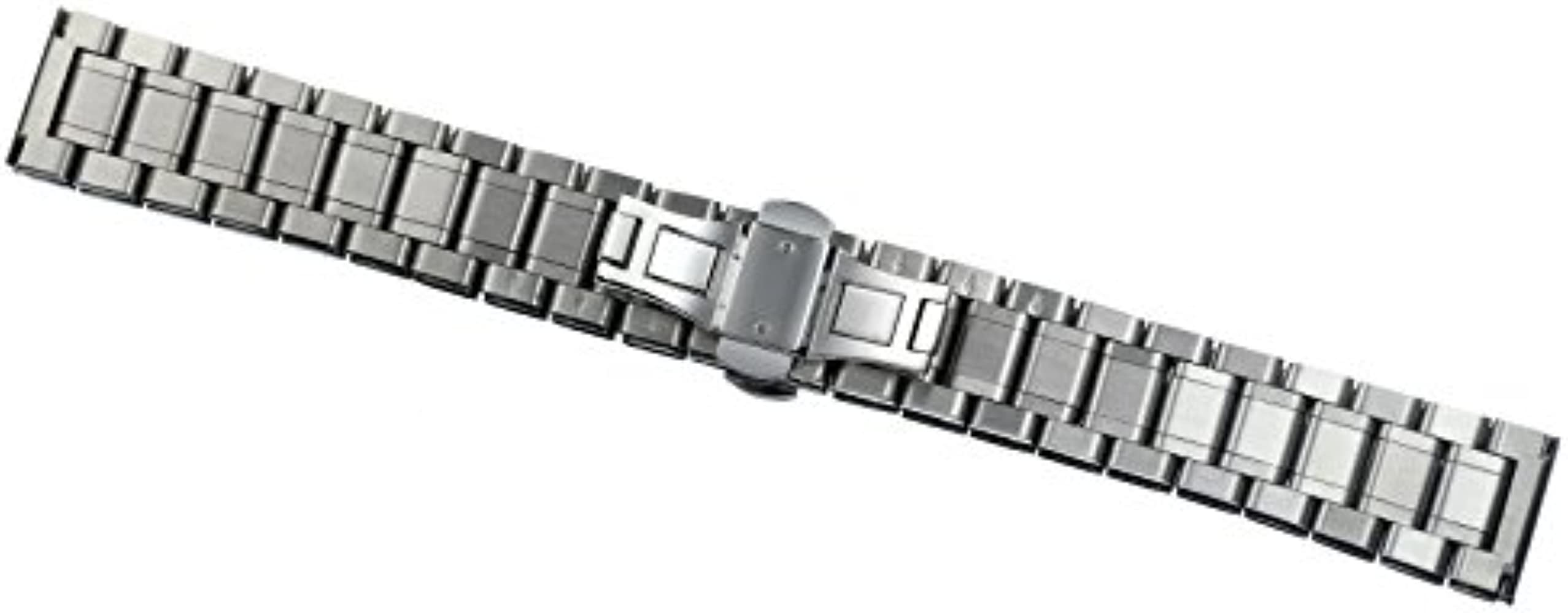 Luxury Metal Watch Straps Solid Stainless Steel Heavy Type with Both Curved and Straight Ends