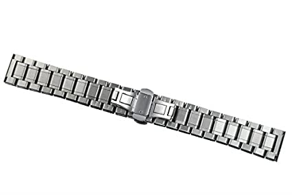 15mm Ladies Luxurious Small Narrow Stainless Steel Watch Straps Belts Straight End | Amazon.com