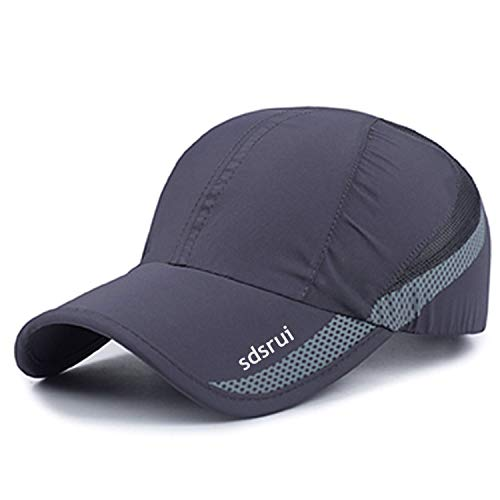 (New High Quality UV Quick-drying Waterproof Light Shade Baseball Cap Outdoor Hats, free size, Gray)