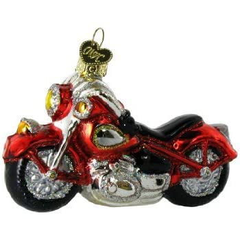 Old World Christmas Motorcycle Glass Blown Ornament