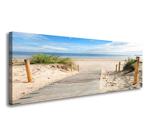 youkuart canvas Prints,Beach scenery Wall Art oil Paintings Printed Pictures Stretched for Home Decoration mx001 (Scenery Oil Painting)