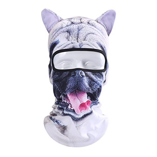 JIUSY 3D Cute Animal Ears Face Mask Windproof Breathable Balaclava for Skiing Cycling Motorcycle Snowboard Skateboard Hiking Fishing Halloween Party (G-a-y Halloween)
