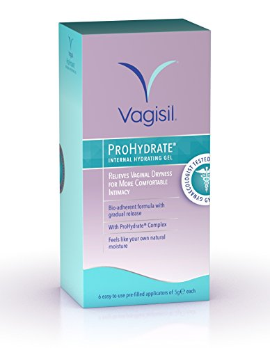 (Vagisil Prohydrate Internal Hydrating Gel to Relieve from Vaginal Dryness - x6 applicators)