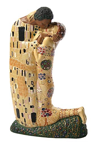 Parastone - Klimt - Resin Statue - Hand Painted - the Kiss (1907) - Small ( 7.5