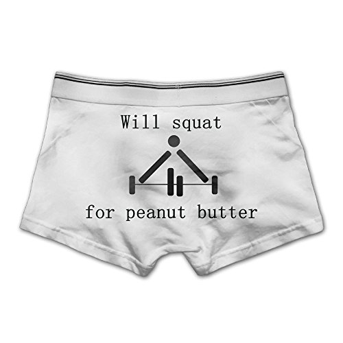 Unhuangs Will Squat For Peanut Butter Men's Low Waists And High Waists, Shorts, Tights, And Short Fiber Underwear M - Chicago Near Shopping Outlets