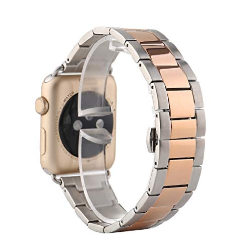 goalBY Replacement Stainless Steel Band Strap Bracelet for Apple Watch 38MM