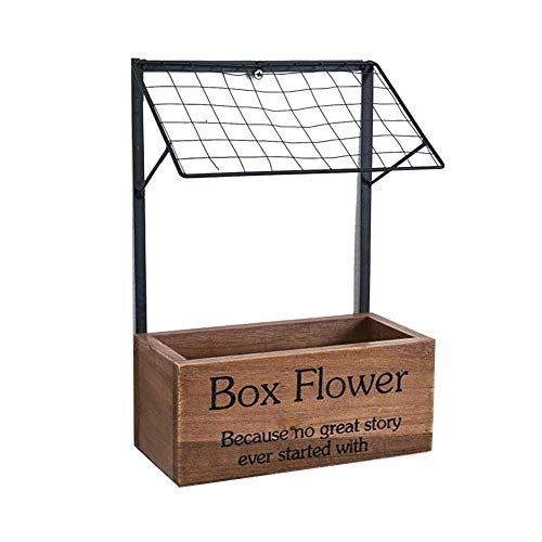 - Biback Multi-Purpose Grocery Succulent Flower Pot,Wooden Crafts Innovative Square Flower Planter Wall Mounted Storage Basket for Flower Stationery Phones Cosmetics Toys Sundries