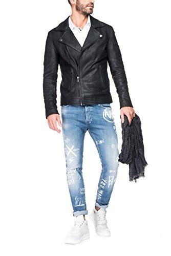 Salsa - Jeans Slender avec graphiques variés effet et usures - Homme