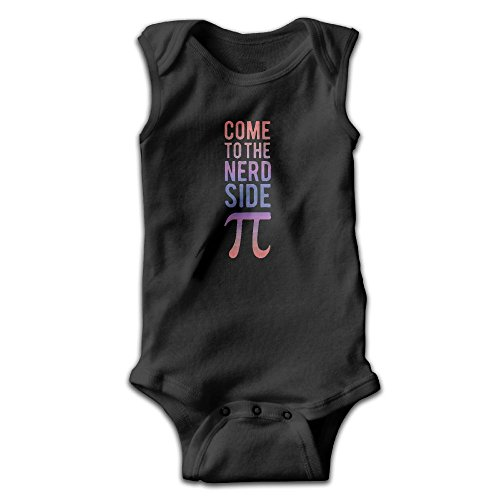 Nerd Day Outfits (Newborn Come To The Nerd Side We Have PI Day Sleeveless Onesies Outfits Black)