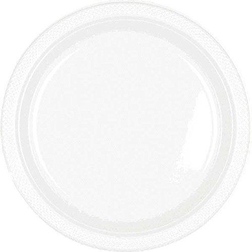 Amscan 43030.08 White Plastic Plates | 7'' | 200 Ct