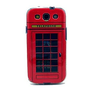 LIMME-ships in 48 hours Famous Popular Telephone Box Pattern TPU Soft Case Cover for Galaxy S3 I9300