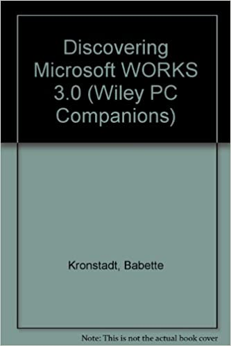 Discovering Microsoft Works 3.0