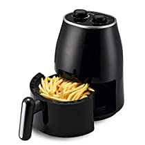 MDYYD Air Fryer Large Air Fryer Oven Cooker with LED Touch Screen Cooking Preset Detachable Nonstick Basket Electric hot air Fryer (Color : Black, Size : 1.5L)