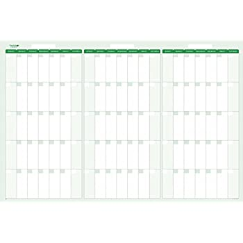 amazon com earth green 90 day 3 month dry wet erasable quarterly