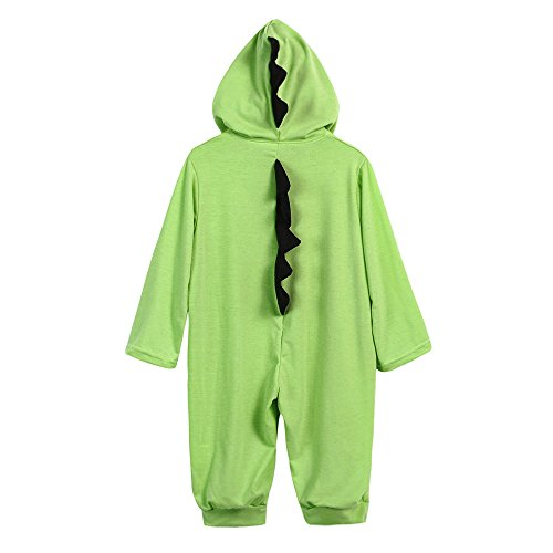 Home Made Dinosaur Costumes (Birdfly Cute Unisex Baby Dinosaur Costume Rompers Hooded Jumpsuit Newborn Dress Up Fall Outfits (6M, Green))