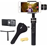 Feiyu SPG w/ plate kit, 3 Axis Gimbal upgraded Splash-Proof Design Handheld Stabilizer Face Tracking Panorama Time-lapse Vertical & Horizontal Shooting for Smartphone iPhone Samsung & GoPro Hero 6/5/4