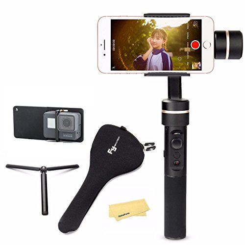 Feiyu SPG w/ plate kit, 3 Axis Gimbal upgraded Splash-Proof Design Handheld Stabilizer Face Tracking Panorama Time-lapse Vertical & Horizontal Shooting for Smartphone iPhone Samsung & GoPro Hero 6/5/4 (Kit Gimbal)