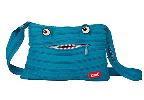 original zipit Monster Schultertasche, in Blau