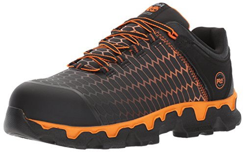 Timberland PRO Men's Powertrain Sport Raptek Alloy Toe EH Industrial and Construction Shoe, Black Raptek with Orange, 11 W US (Shoes Safety Pro Timberland)