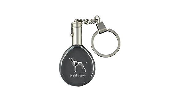 ArtDog Ltd. Puntero de Ingles, Llavero de Cristal para Perro ...