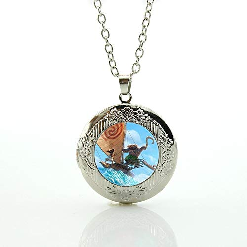 Principessa Crystal - Pendant Necklaces - 2017 New Fashion Princess Moana Locket Necklace Cartoon Movie Principessa Baby Maui Pendant Women Statement Jewelry CT01 - by Mct12-1 PCs