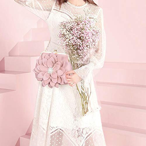 Capacidad Embrague 23 Cadena 18 Verde Flor Diamante Diagonal Para Cruz De Mano Cm Bolsa Moda Gran Pink 6 Mujer Bolso xC6wYX4qY