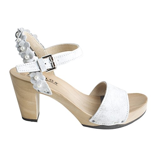 Softclox Damen Sommerschuh Sandalette FAYOLA Matrix von Farbe Weiß Party Urlaub Freizeit (40) 2825rLL