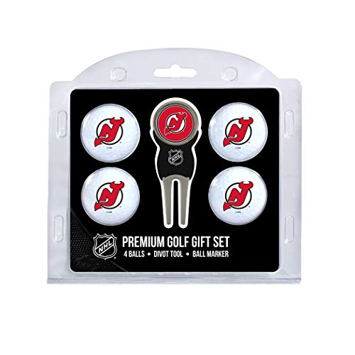 Team Golf NHL New Jersey Devils Regulation Size Golf Balls (4 Count) & Divot Tool with Removable Double-Sided Magnetic ()