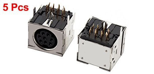 Amazon.com: eDealMax bricolaje soldadura Tipo 8 Terminales PS / 2 PCB Conector hembra 5pcs Para el teclado del ordenador Ratón: Electronics