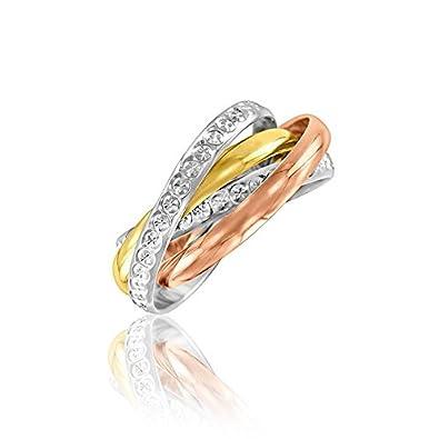 Complètement et à l'extrême Alliance 3 Ors 18 carats composée de 4 anneaux entrelaçés - 2 mm @MK_44