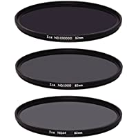 ICE Extreme ND Filter Set 82mm ND100000 ND1000 ND64 Neutral Density 82 16.5,10, 6 Stop Optical Glass