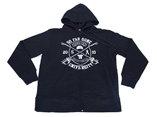 Drake So Far Gone University Officially Licensed Black Zip Up Hoodie Adult Size Large